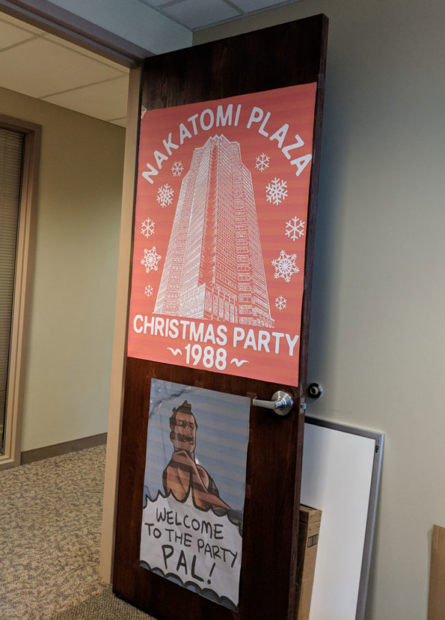 They told me to decorate my office for Christmas
