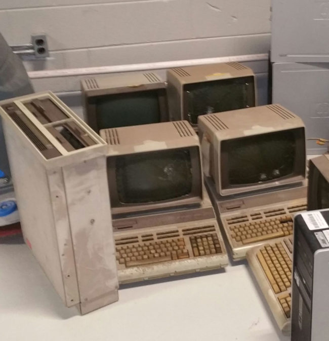 Today the company I work for decided to get rid of our old computers