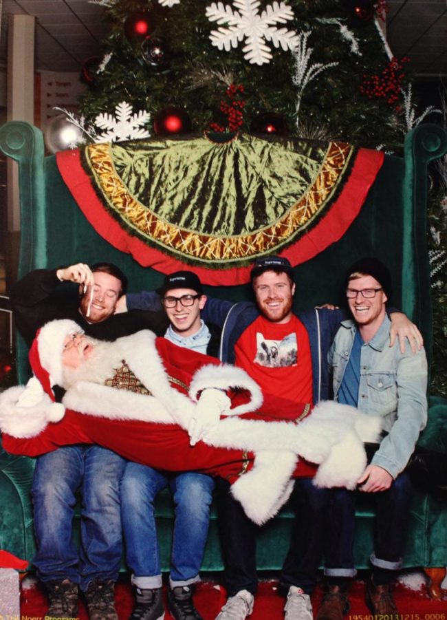 My friends and I got our picture taken with Santa