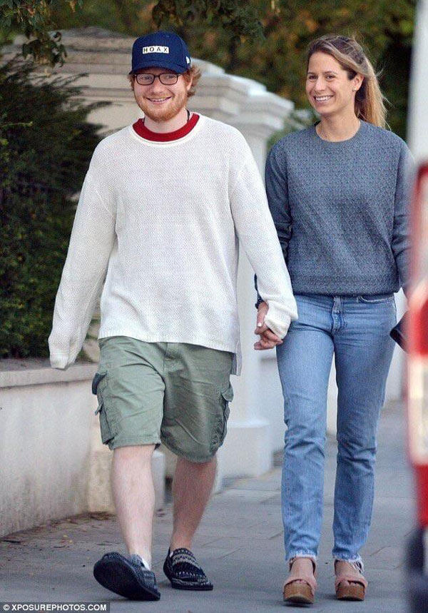 Ed Sheeran looks more like an imaginary friend than a fiancé