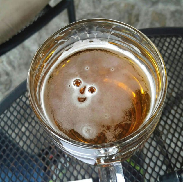 Get yourself someone who's as happy to see you as this beer is happy to see me