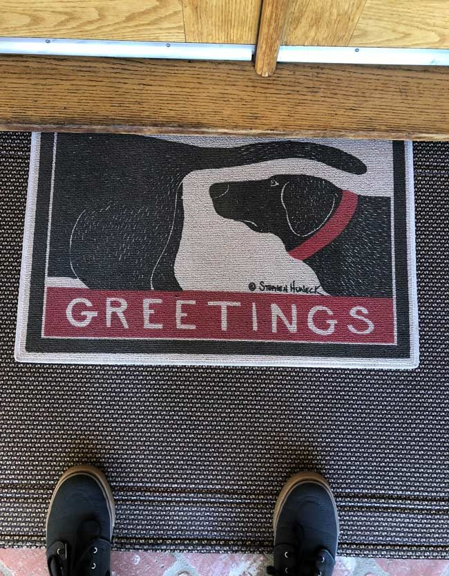 Mother's new front door mat
