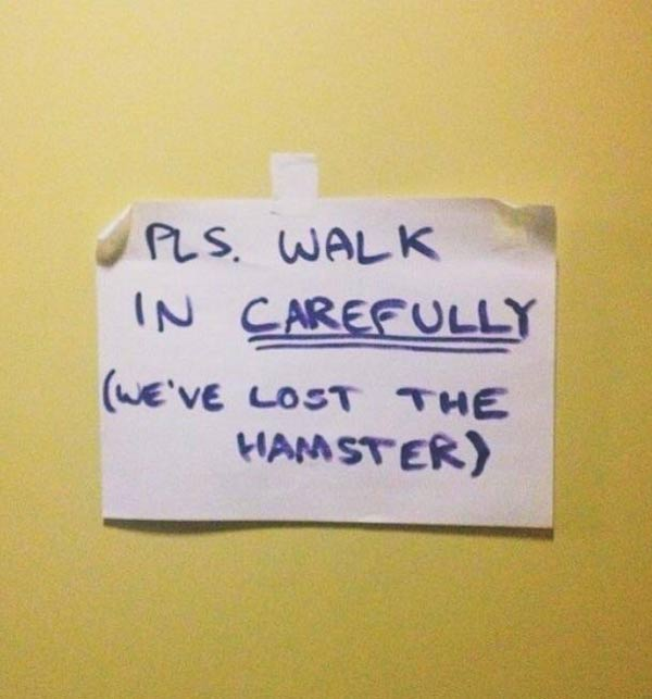 Please walk carefully