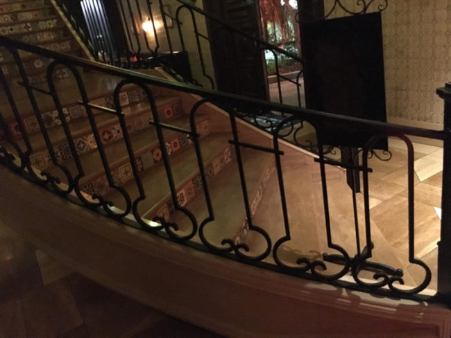 Just finished dinner and noticed the railing on this stairway
