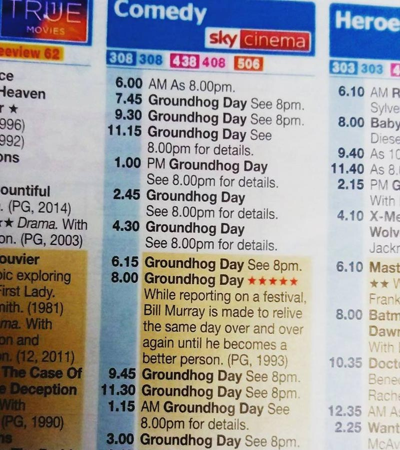 I'm sure I've seen this film before Sky