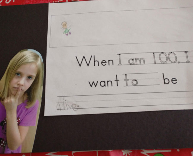 When I am 100, I want to be..