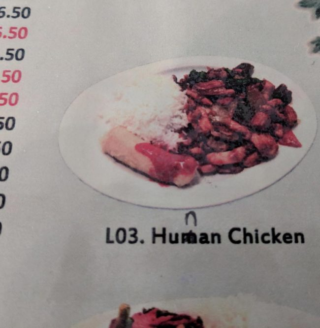 When your local Chinese restaurant serves exotic meat..