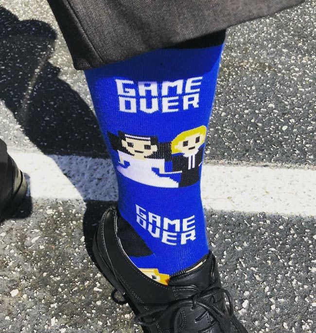 A friend of mine is a lawyer. He wore these to family court today