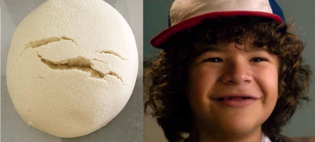 My bread dough looks like that kid from Stranger Things!