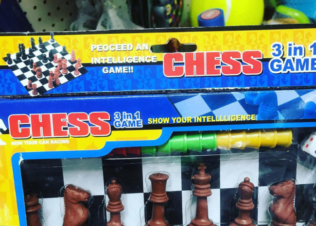 Play Chess. Show your intelllligence