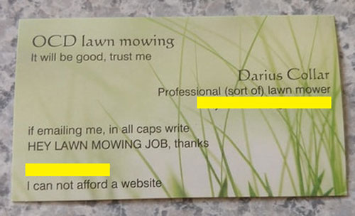 This guy's business card