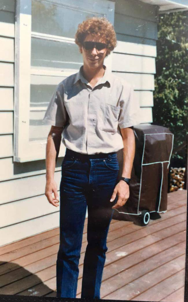 My uncle looking like Napoleon Dynamite back in the day..