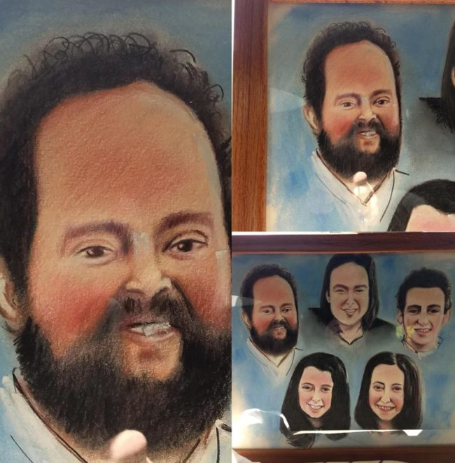 My boyfriend's aunt commissioned her coworker to do a family portrait for her mother. 6 months & $50 later.. worth it
