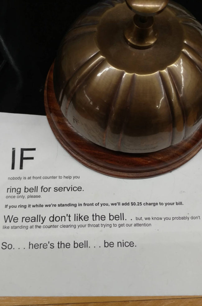 If you ring the bell