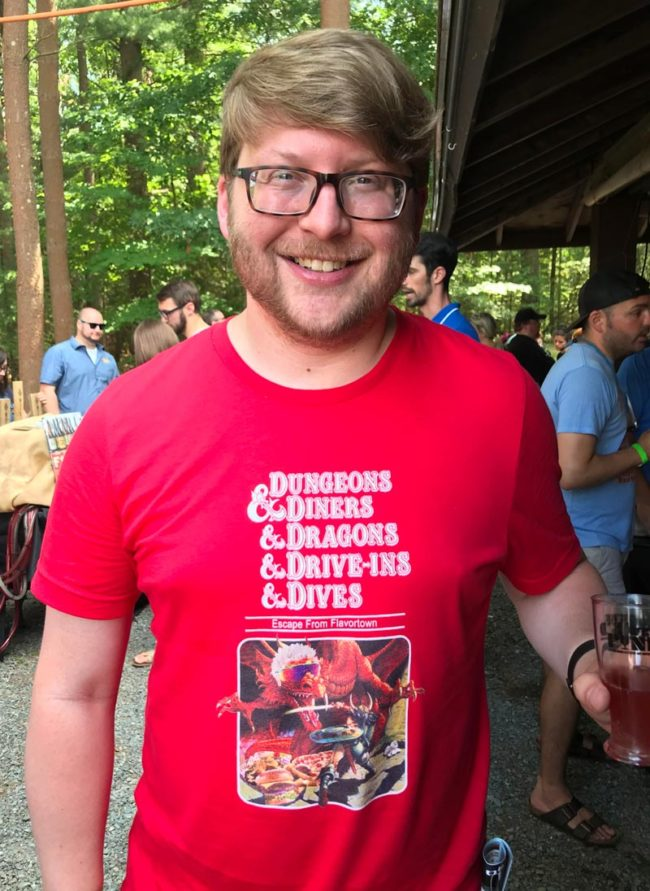 I found this guy at a beer fest with a cool shirt