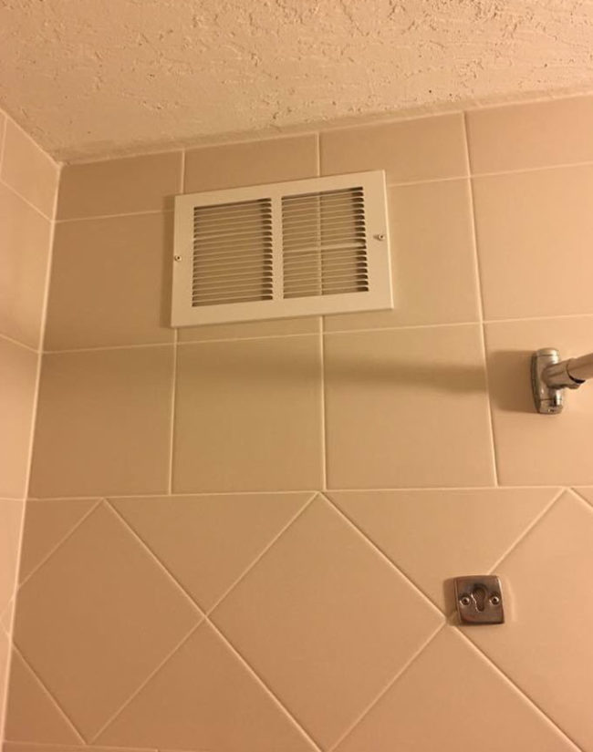 The vent in my hotel bathroom doesn't seem to be working