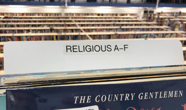 This extremely religious section