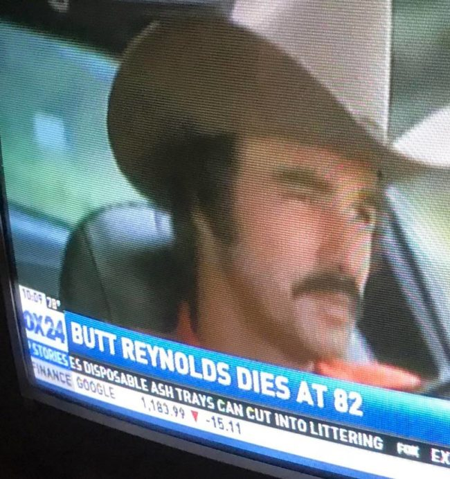 My local news did an oopsie. RIP Burt