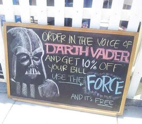 I find your lack of discounts disturbing