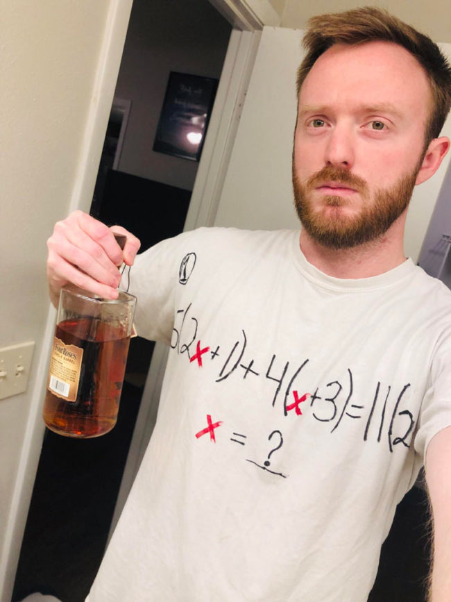 Dressed up as a 'Drinking Problem' and got virtually no laughs