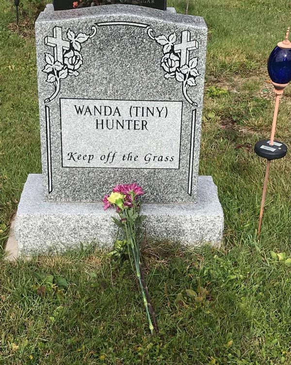 My Grandmother-in-law was specific on what she wanted on the headstone