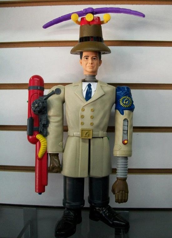 In 1999 McDonald's released an Inspector Gadget action figure, with each body part being a separate toy to collect. This is what the final product looked like
