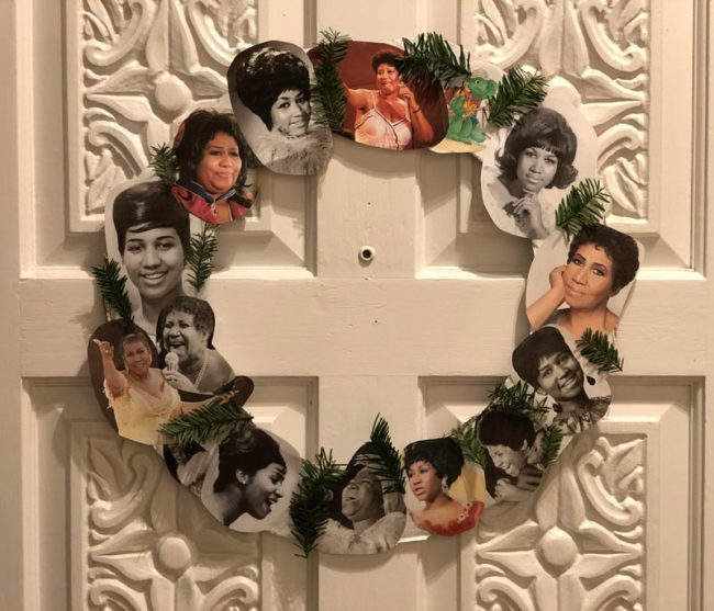 "Got festive this year, made ""A wreath of Franklin"""