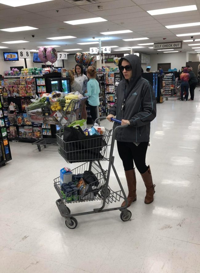 Grocery shopping while home for the holidays