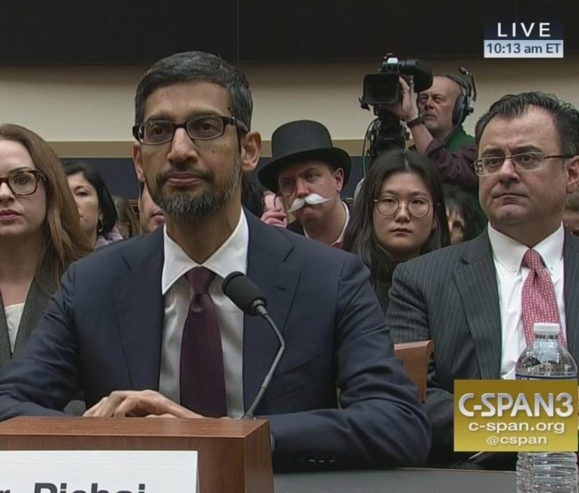 The Monopoly Man makes a comeback at Google CEO's hearing