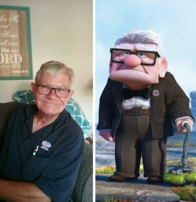 My dad looks like Carl from UP