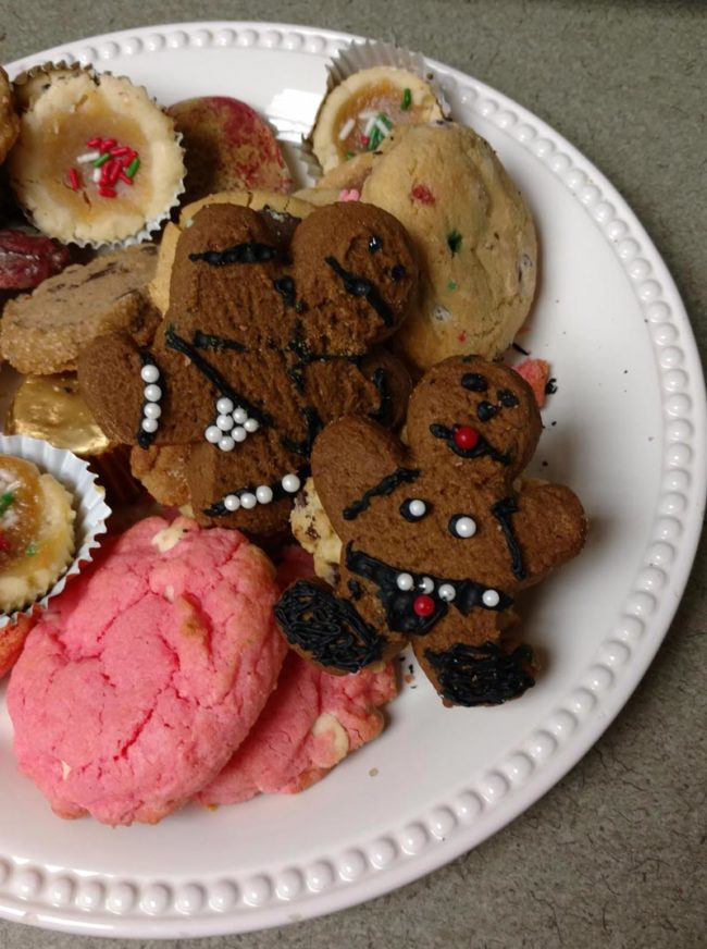 Someone brought in cookies to the office from a cookie exchange this weekend...