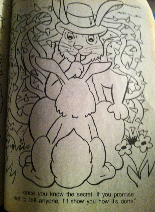Was working with my daughter on an old coloring book when...