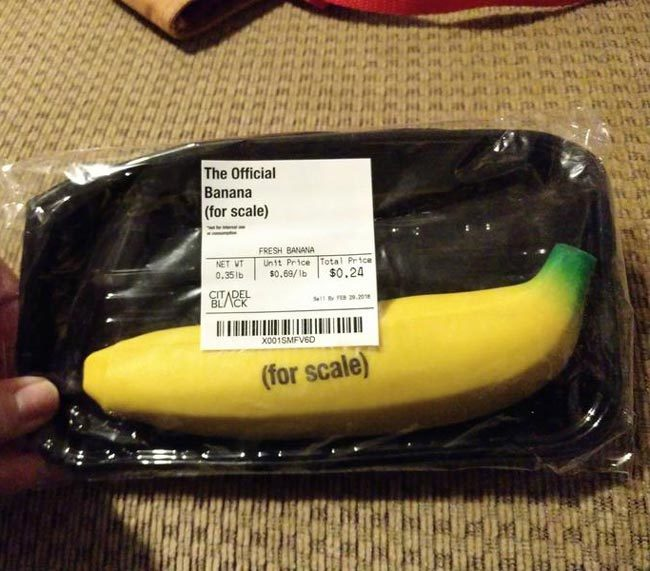 My mom bought me a banana for scale
