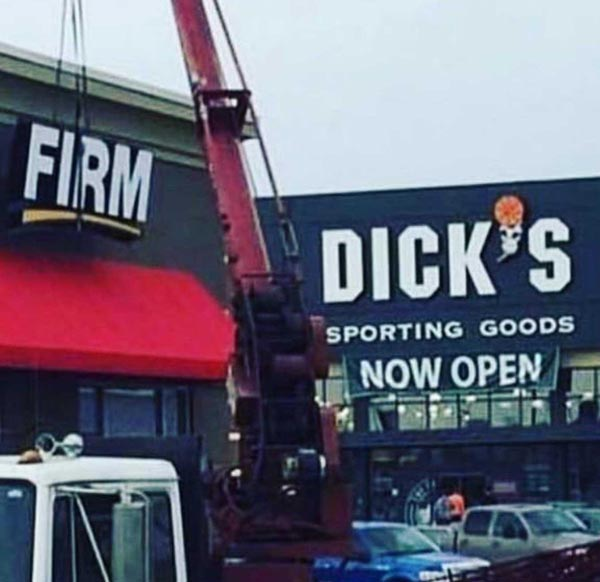 Erecting a sign