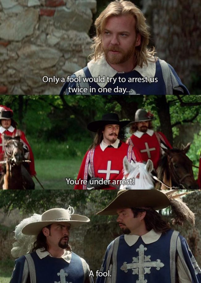 Three Musketeers (1993) Still love this movie after all these years
