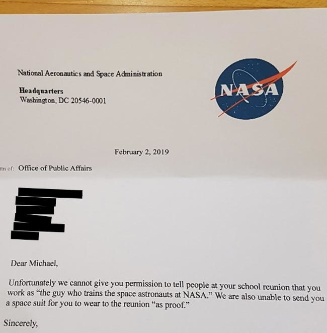 Michael gets declined by NASA
