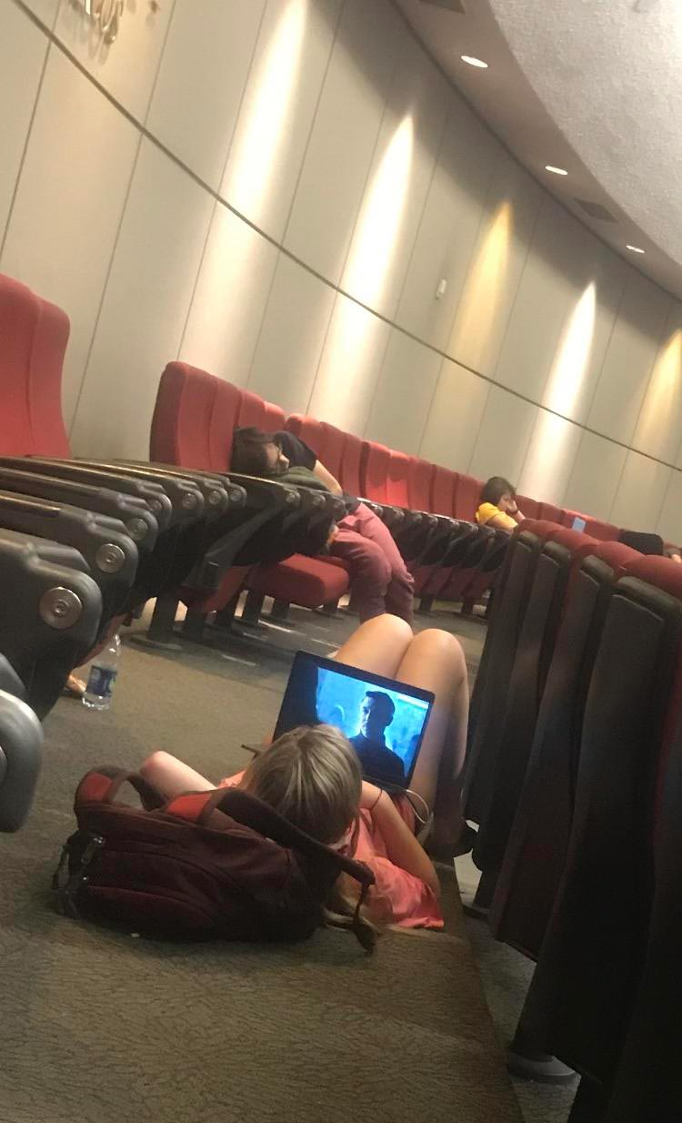 University students hard at work during lecture