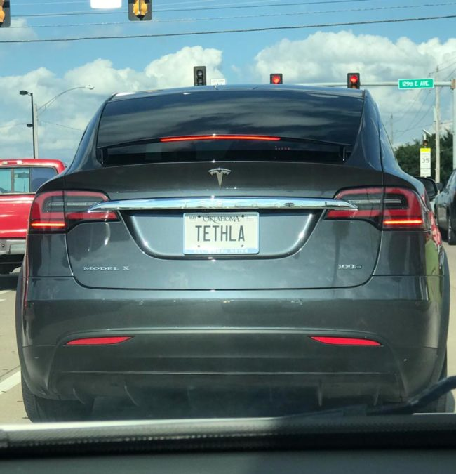 Spotted Mike Tyson's Tesla