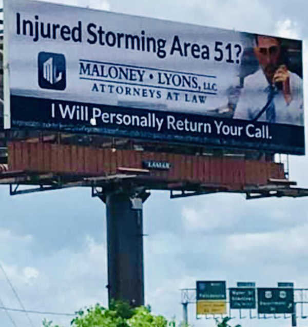Billboard in Mobile, Alabama