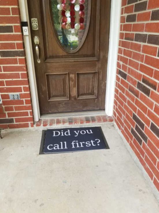 The perfect doormat doesn't exi...