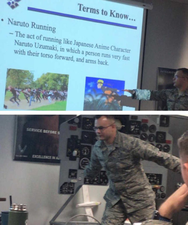 The Air Force is preparing for the Naruto runners