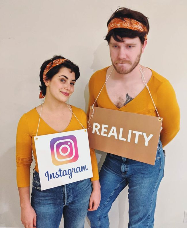 Social media post and the reality behind it