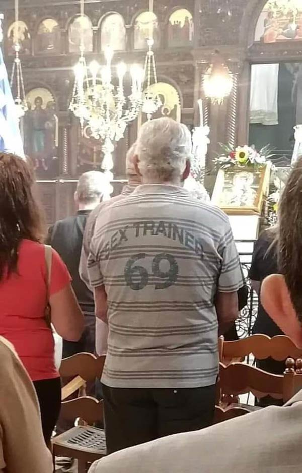 Spotted in a Greek church...