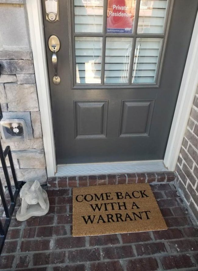 My sister's door mat