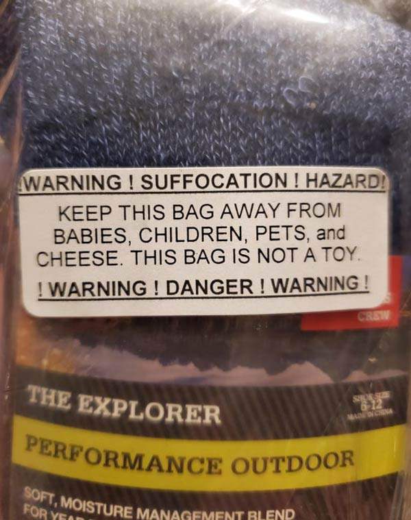 Can't decide if this was added in for a laugh or if there is a story behind this label