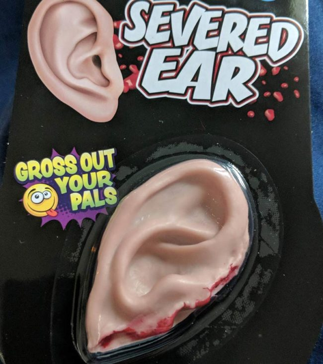 I was born without an ear. So for Christmas my roommates got me this