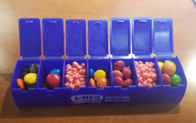 Filled my pill box for the week