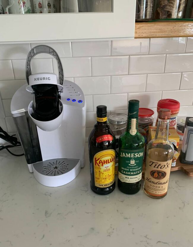 My work from home coffee station