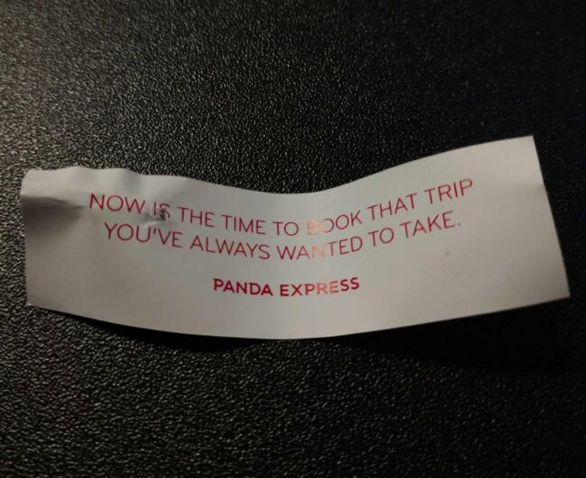 Some excellent, timely advice from Panda Express