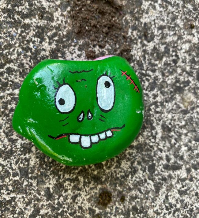 Someone keeps leaving stones like this around my village, I love them with a passion